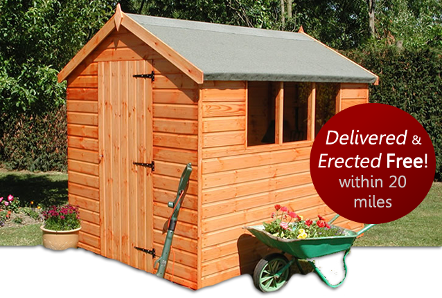 wooden shed by Countrywide sheds bedfordshire